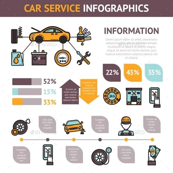 GraphicRiver Car Service Infographics 10428216