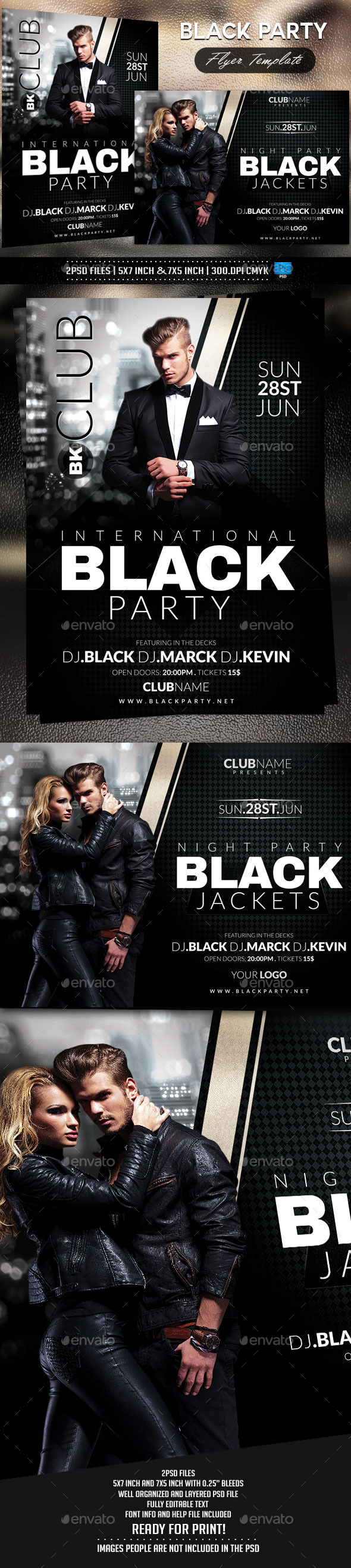 GraphicRiver Black Party Flyer Template 10428223