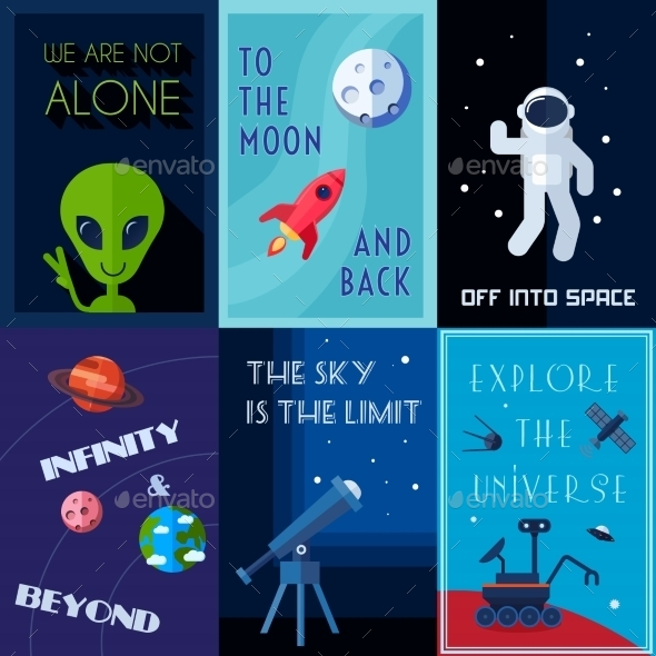 GraphicRiver Space Poster Set 10428292