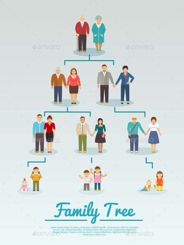 GraphicRiver Family Tree Flat 10428302