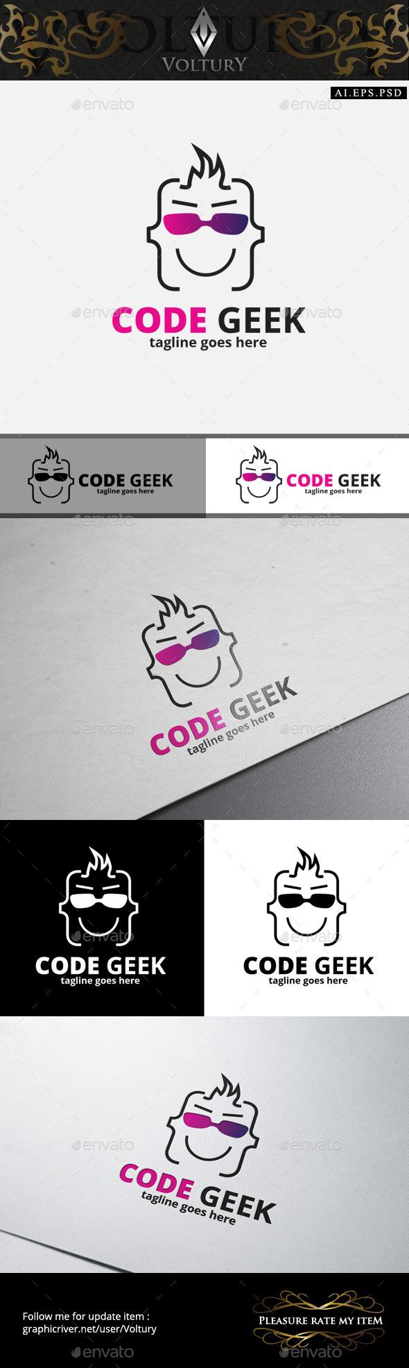 GraphicRiver Code Geek Logo 10400025