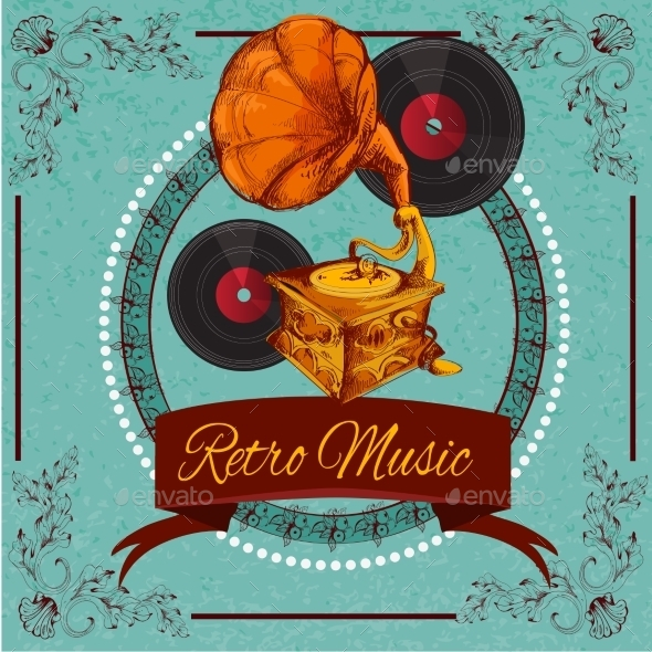 GraphicRiver Retro Music Poster 10428306