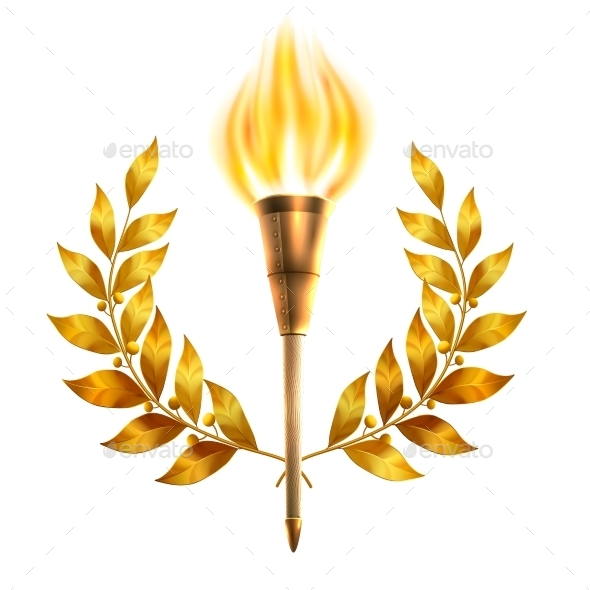 GraphicRiver Torch And Laurel Wreath 10428312