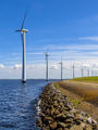 Wind turbines in a long row - PhotoDune Item for Sale