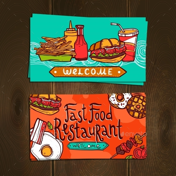 GraphicRiver Fast Food Cards 10428320