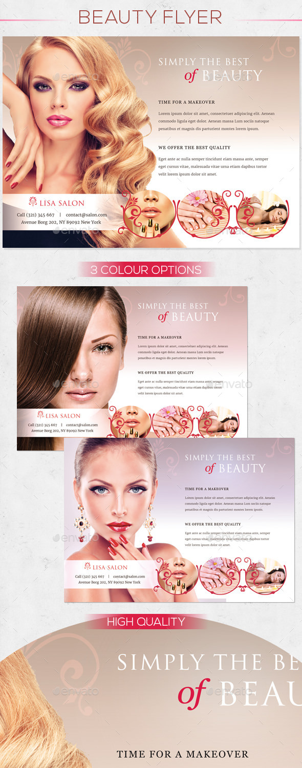 GraphicRiver Premium Beauty Flyer 10428323