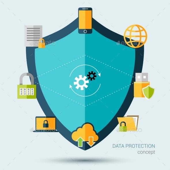 GraphicRiver Data Protection Concept 10428340