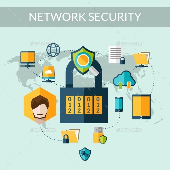 GraphicRiver Network Security Concept 10428342