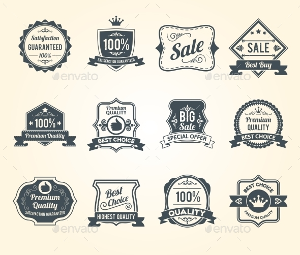 GraphicRiver Retro Labels 10428421