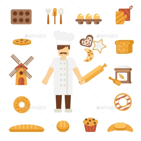GraphicRiver Baker Icons Flat 10428457