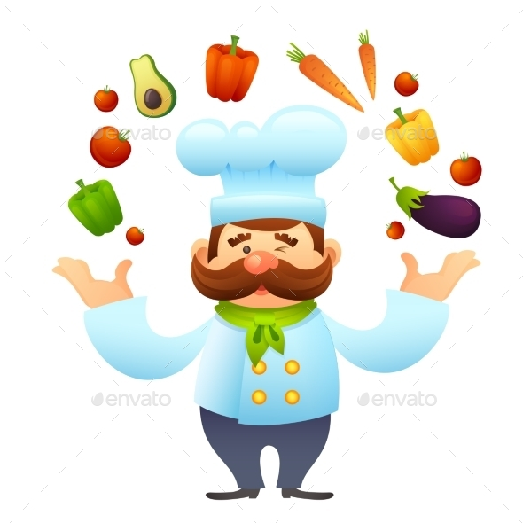 GraphicRiver Chef With Vegetables 10428459
