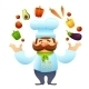 Chef With Vegetables - GraphicRiver Item for Sale
