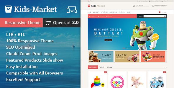 ThemeForest Kids Market Opencart Responsive Theme 10428464