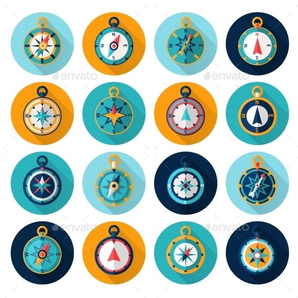 GraphicRiver Compass Icon Flat 10428469