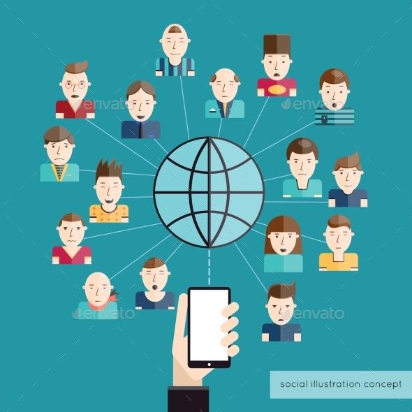 GraphicRiver Social Communication Concept 10428479