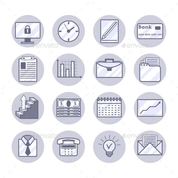 GraphicRiver Business Icons Set 10428486