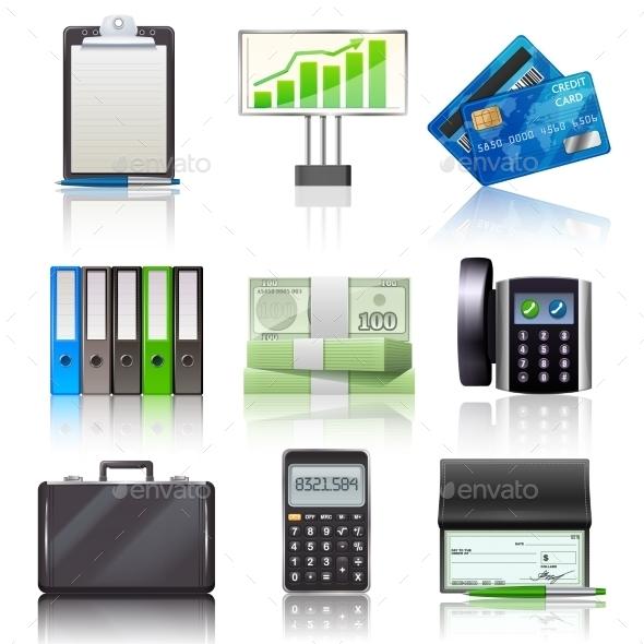 GraphicRiver Business Icons Set 10428491