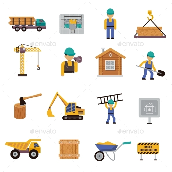 GraphicRiver Construction Icon Flat 10428501