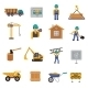Construction Icon Flat - GraphicRiver Item for Sale