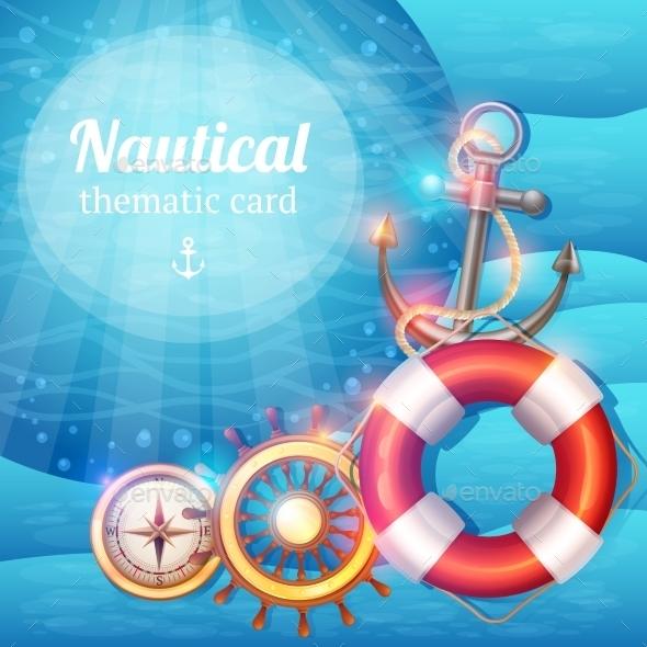 Marine Symbols Background