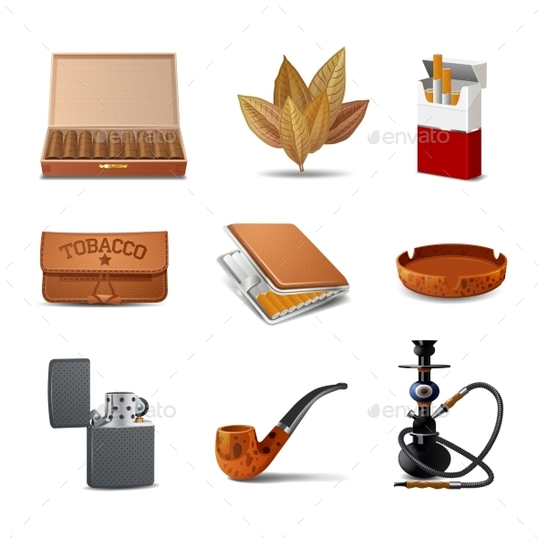 GraphicRiver Tobacco Icon Set 10428554