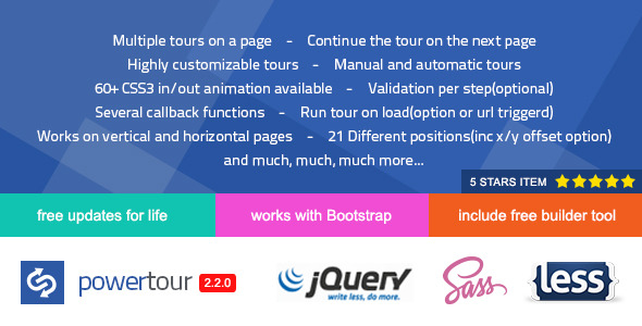 Power Tour - Powerful Creative jQuery Tour Plugin - CodeCanyon Item for Sale
