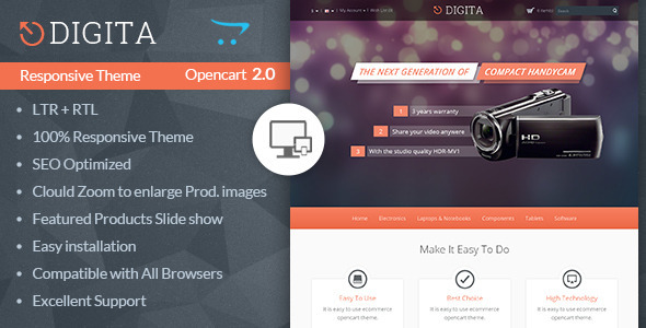 Digita - Opencart Multipurpose Theme - OpenCart eCommerce