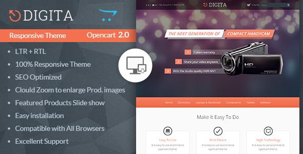 Digita - Opencart Multipurpose Theme