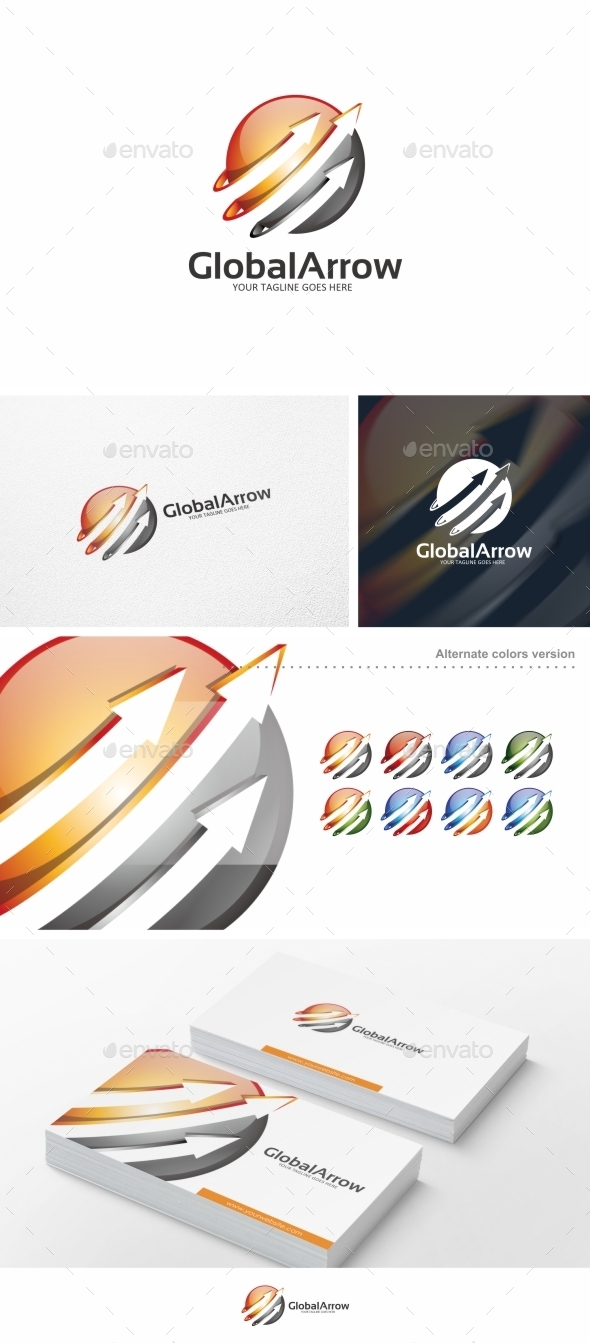 GraphicRiver Global Arrow Logo Template 10428873