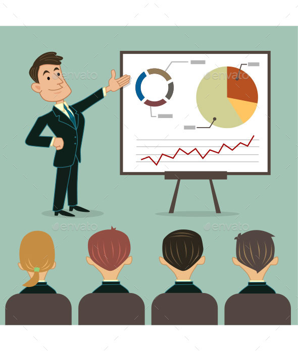 GraphicRiver Business Presentation to Audience 10429056