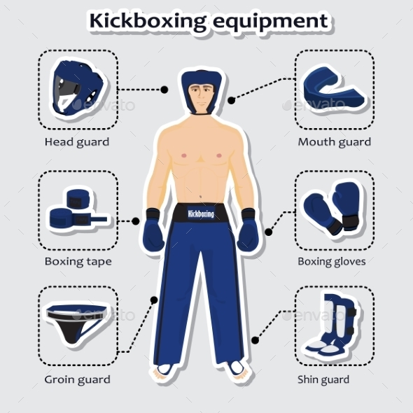 GraphicRiver Sport Equipment for Kickboxing Martial Arts 10429209