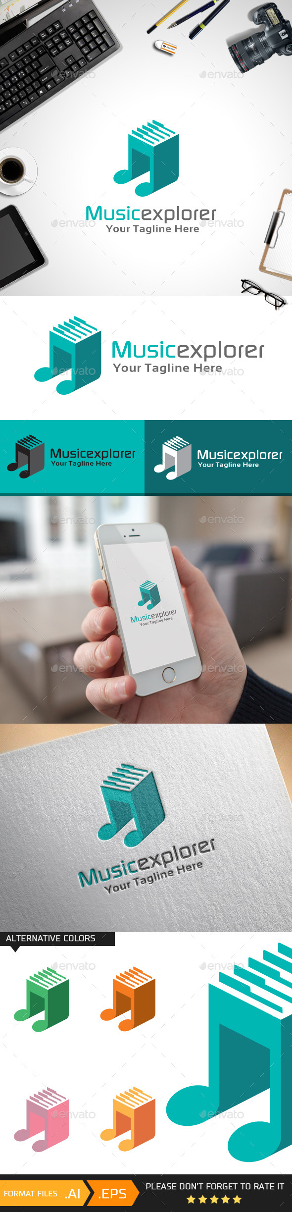 GraphicRiver Musicexplorer Logo Template 10429336