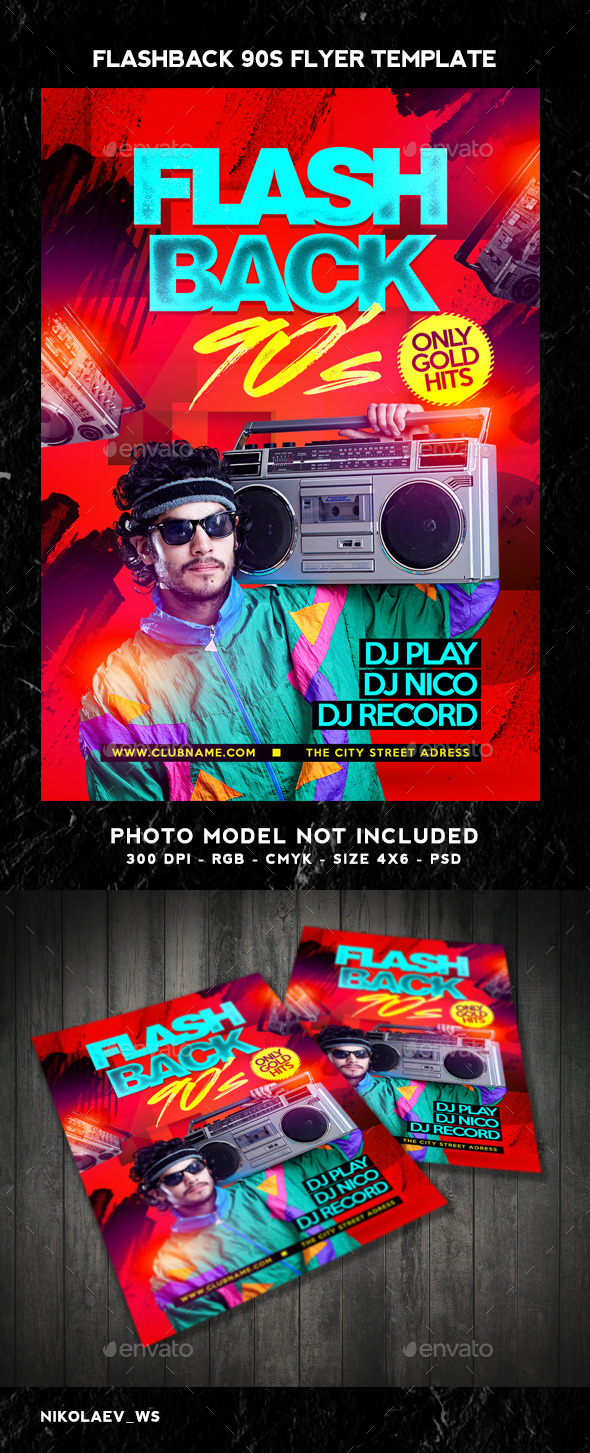 GraphicRiver Flash Back 90s Flyer 10429518
