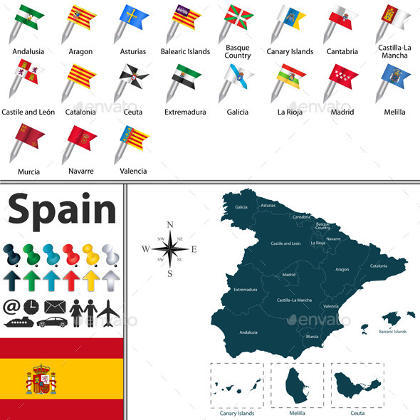 GraphicRiver Map of Spain 10429712