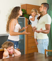 Family with kids having quarrel - PhotoDune Item for Sale