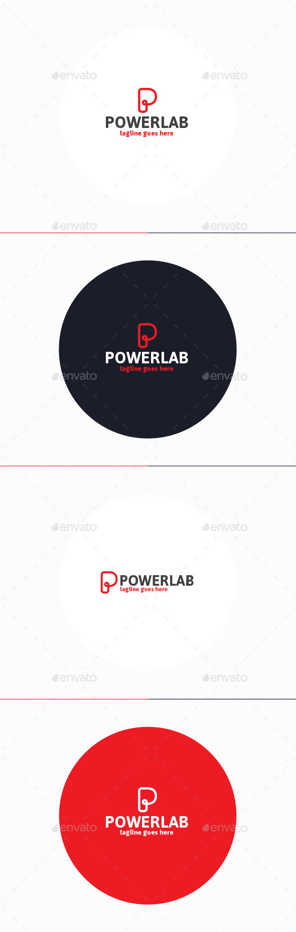 GraphicRiver Power Lab Logo Letter P 10429734