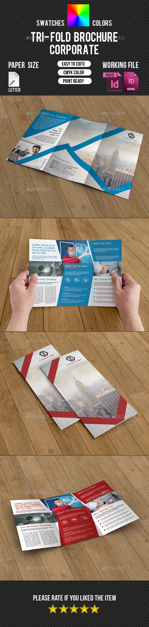 GraphicRiver Corporate Trifold Brochure-V224 10429781