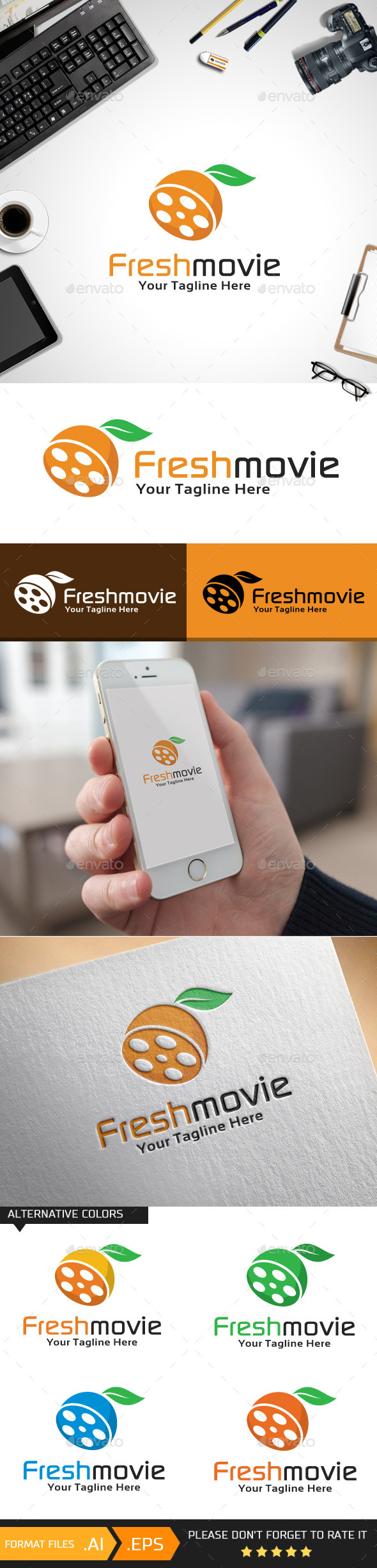 GraphicRiver Freshmovie Logo Template 10429794