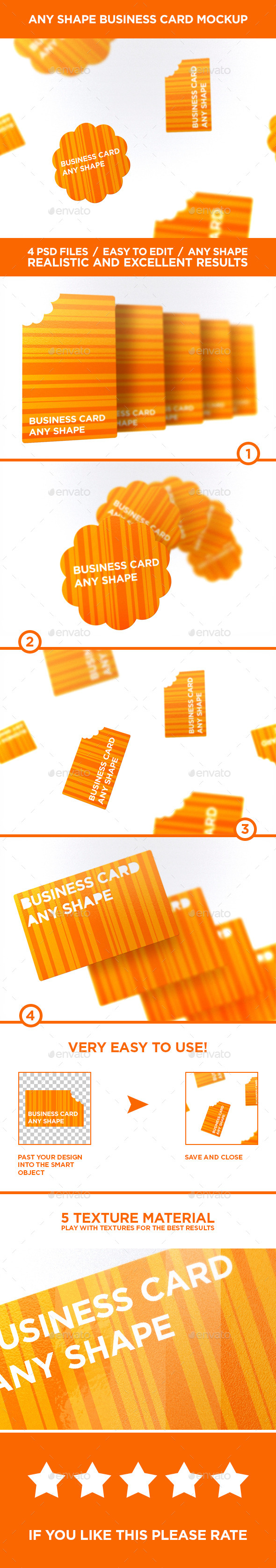 GraphicRiver Business Card Any Shape MockUps Vol.1 10429821