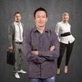 Teamwork and Asian Man With Folded Hands - PhotoDune Item for Sale