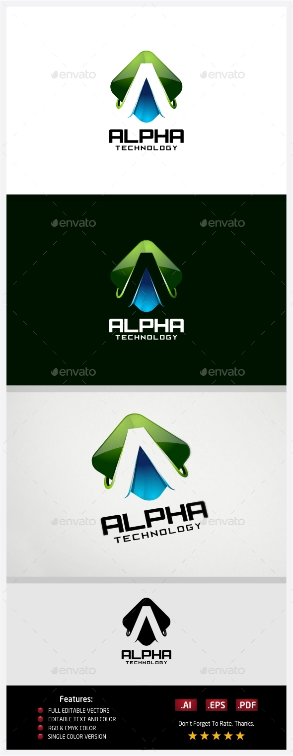 GraphicRiver Alpha Technology Logo 10430208