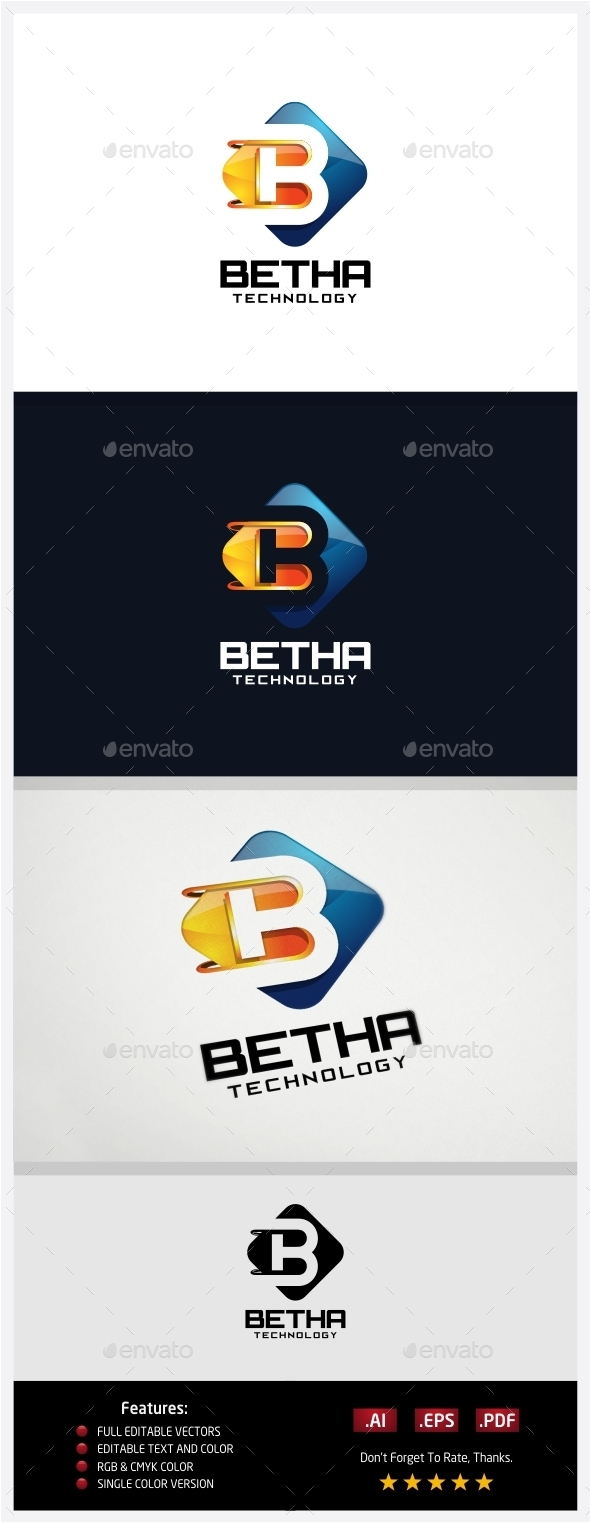 GraphicRiver Betha Technology Logo 10430360