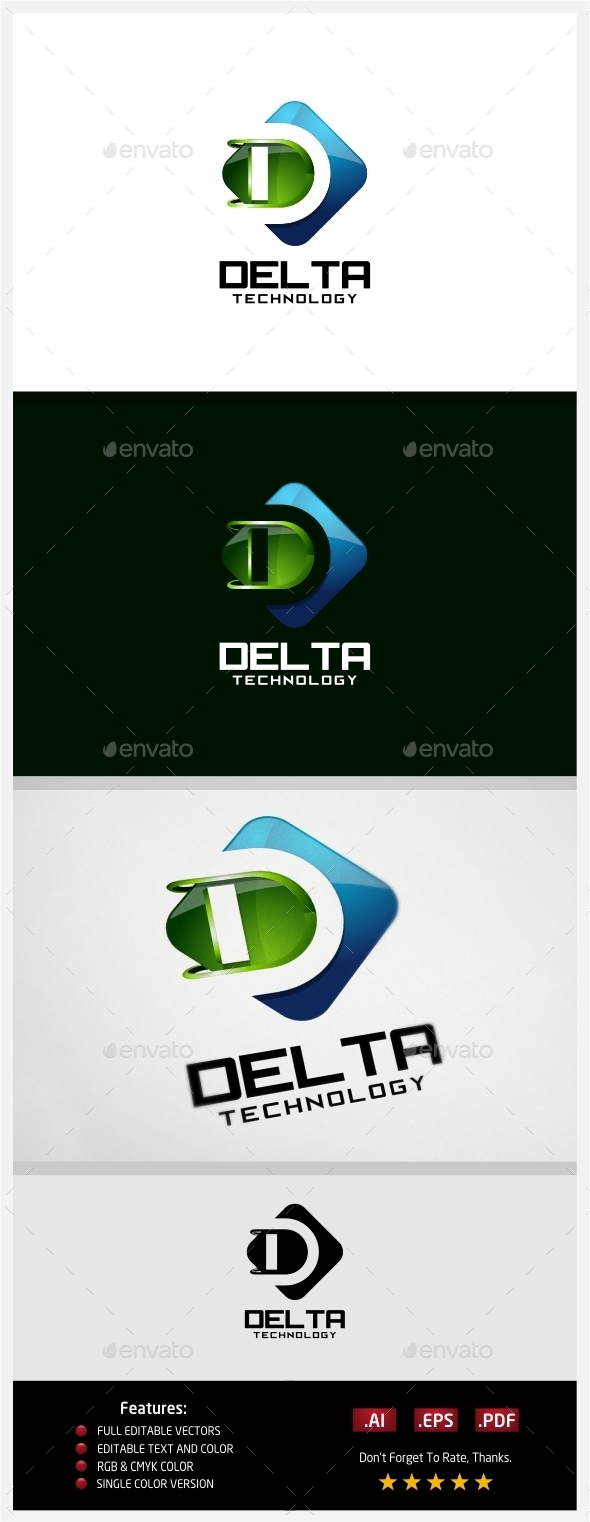 GraphicRiver Delta Technology Logo 10430404