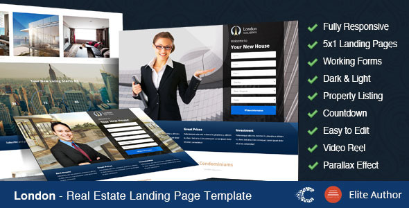ThemeForest London Real Estate Landing Page 10430406