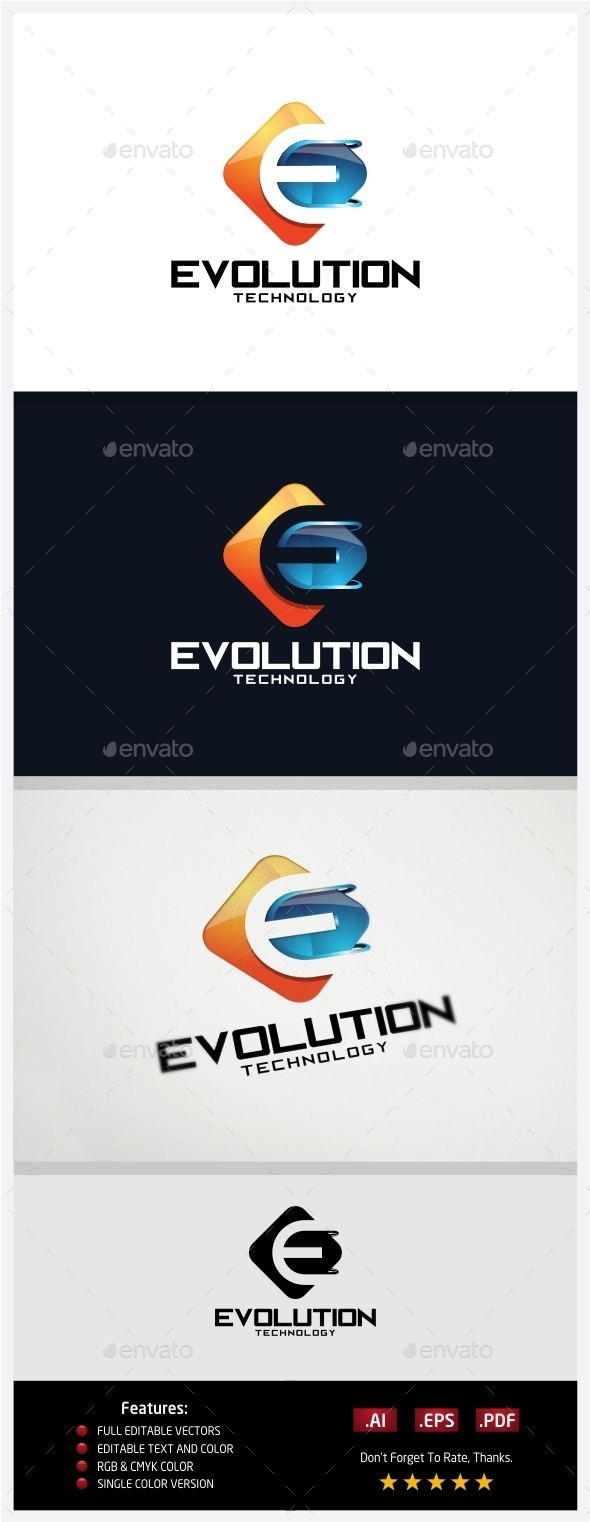 GraphicRiver Evolution Technology Logo 10430410