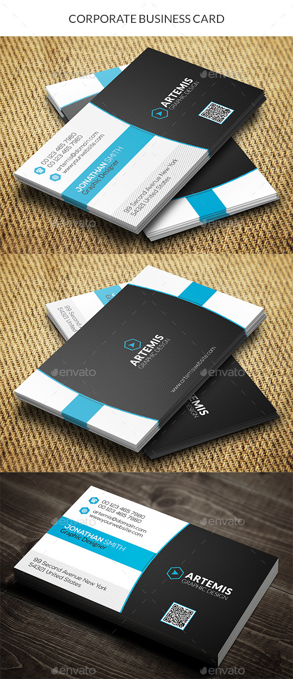 GraphicRiver Corporate Business Card 10430450