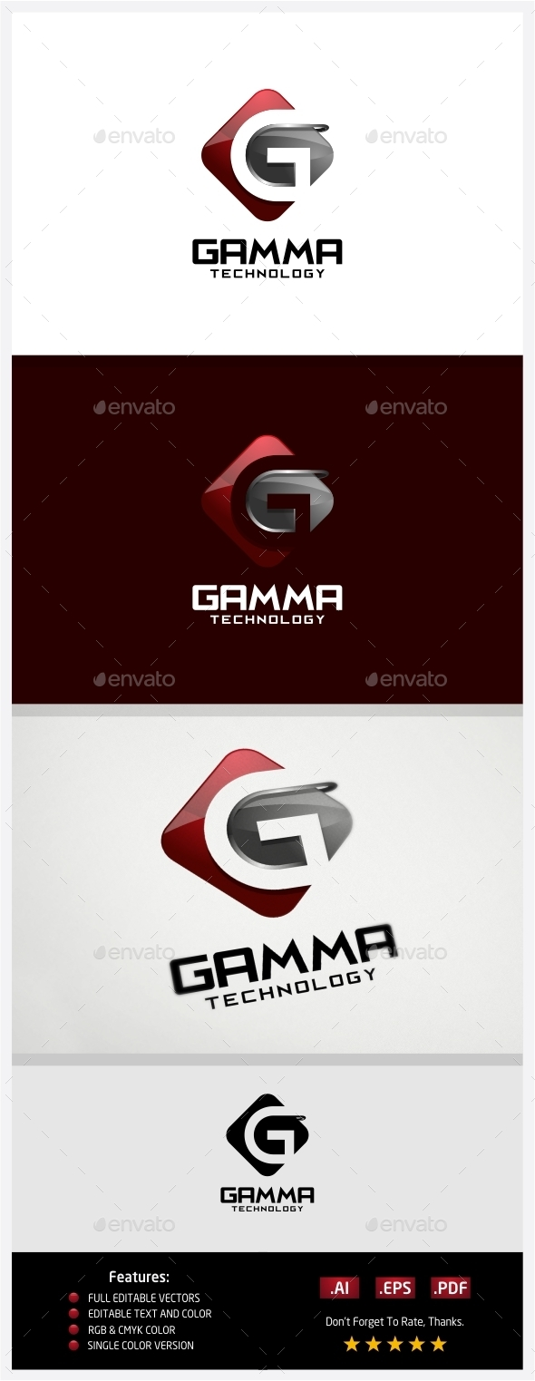 GraphicRiver Gamma Technology Logo 10430563