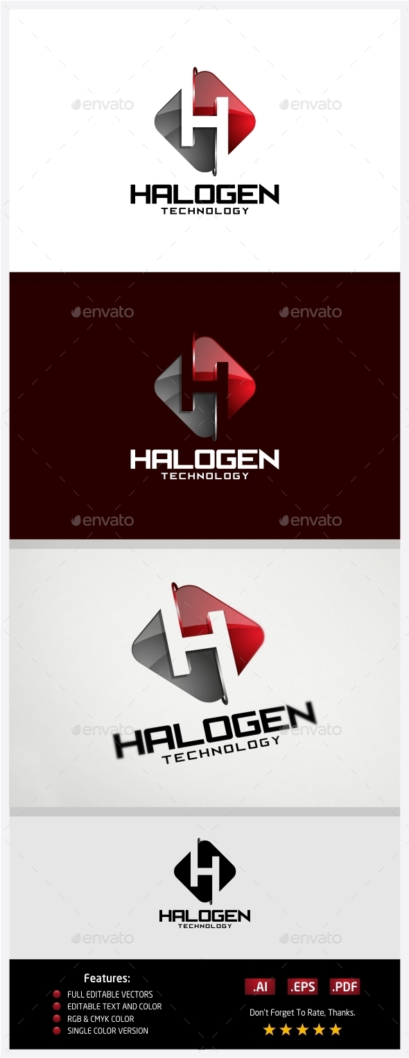 GraphicRiver Halogen Technology Logo 10430574