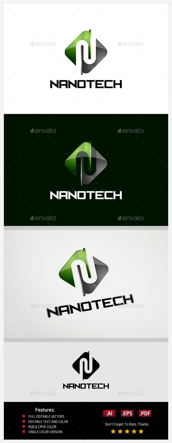 GraphicRiver Nano Technology Logo 10430583