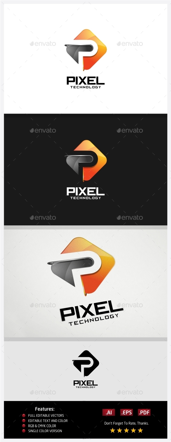 GraphicRiver Pixel Technology Logo 10430585